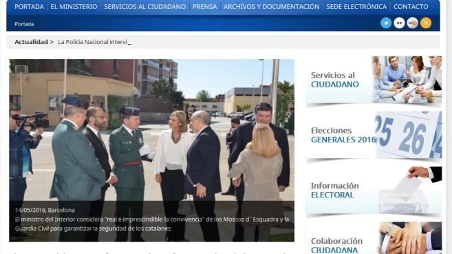 Iberm tica mantendr las aplicaciones y portales web del for Ministerio del interior web
