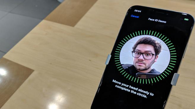 Reconocimiento facial del iPhone X en la app de Wizink