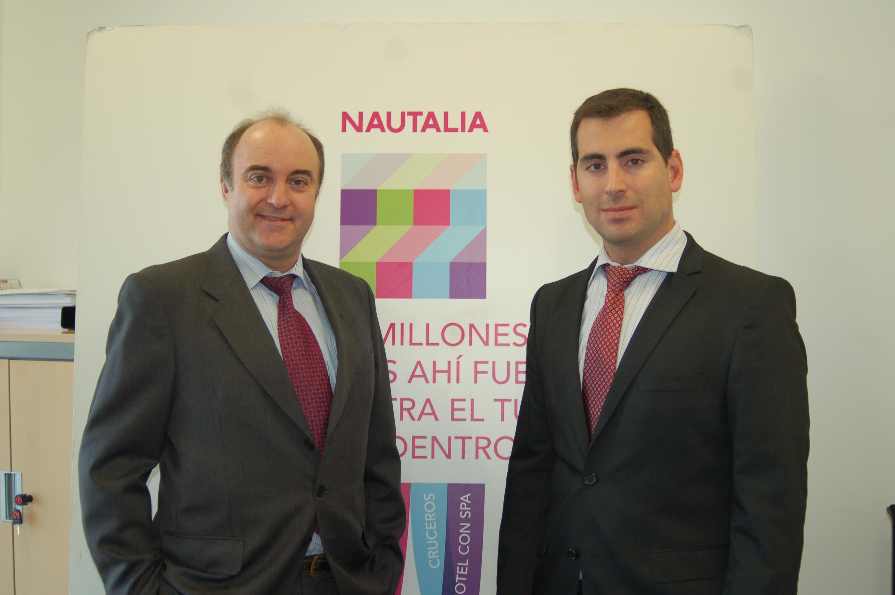 Aurelio Aurelio Pérez, director de Tecnología y Desarrollos de Nautalia (drcha.), y Juan Manuel Bernal, Consulting Sales Executive de HP.