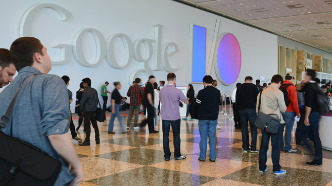Google I/O interior Moscone Center