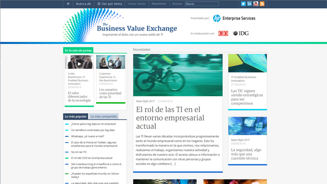 Business Value Exchange en español
