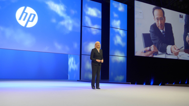 Meg Whitman, CEO de HP, en Discover 2014 en Barcelona
